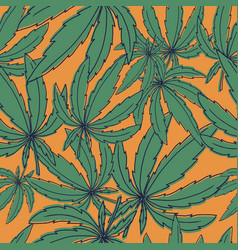 seamless pattern with marijuana leaves on vector image