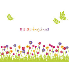 seamless springtime background vector image