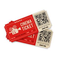 Set cinema tickets vector