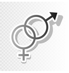 sex symbol sign new year blackish icon on vector image