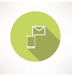Smartphone e-mail icon vector