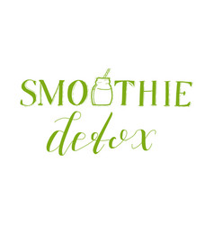 Smoothie detox emblem isolated vector