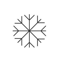snowflake line icon vector image