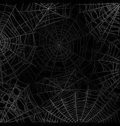 Spider web background spooky cobweb for halloween vector