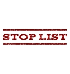 Stop List Watermark Stamp vector