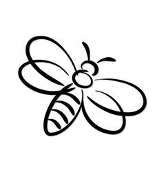 Stylized bee symbol vector