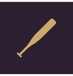 The baseball icon Game symbol Flat vector image