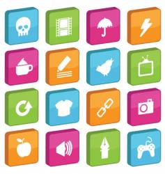 Tile icons vector