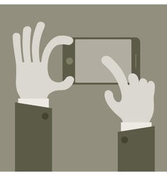 Touch screen concept grey vector