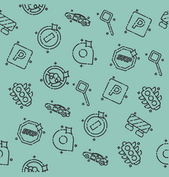 traffic icons pattern vector image