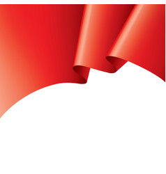 Waving the red flag on a white background vector