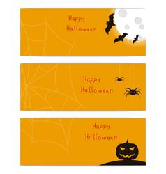 website headers banners with happy halloween vector image