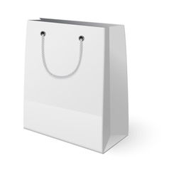 White shopping paper bag isolated on white vector image
