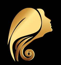 Woman face logo vector image