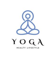 yoga meditation logo vector image