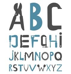 alphabet tools vector image
