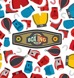 Boxing Seamless Pattern sports background Boxing vector image