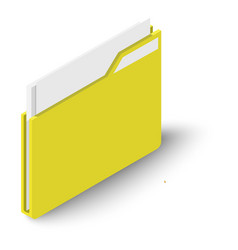 folder icon isometric style vector image
