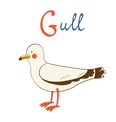 G is for gull vector