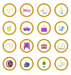 sleep symbols icons circle vector image