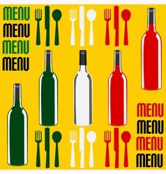 Wine or Restaurant Menu vector image