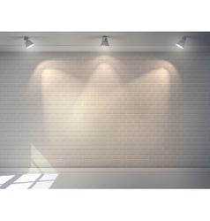 Brick Wall Realistic vector image vector image