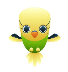 budgerigar cute cartoon character vector image