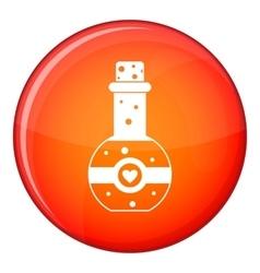 Flask of love elixir icon flat style vector image