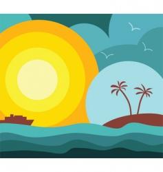 island vacation vector image vector image