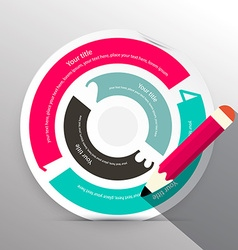 Paper Circle Infographic Layout vector image