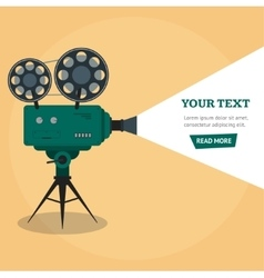 Professional Video Camera Banner vector image
