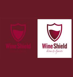 wine shield vector image vector image
