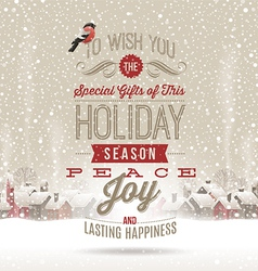 Christmas lettering greetings vector image