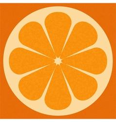 Orange surface vector