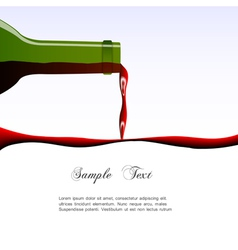 Pouring wine concept vector image