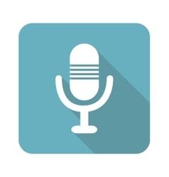 Square microphone icon vector image