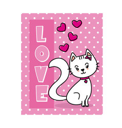 Cat in love Valentine card vector image