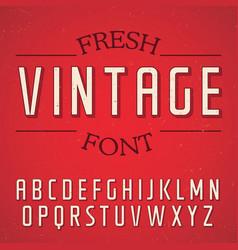 fresh vintage font poster vector image