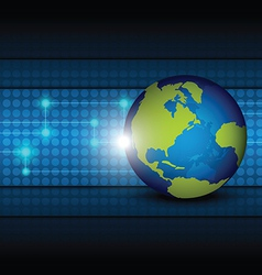 global network technology background vector image vector image