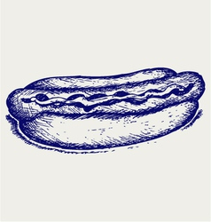 Old-fashioned hot dog vector image
