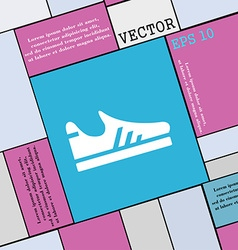 Running shoe icon sign Modern flat style for your vector image