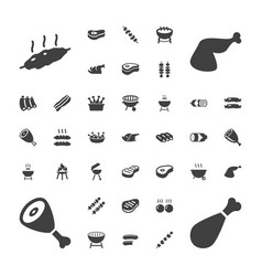 37 barbecue icons vector