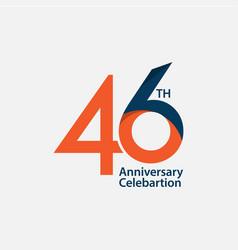 46 th anniversary celebration template design vector