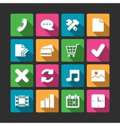 Advanced website navigation elements squared vector