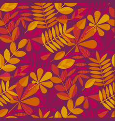 Autumn leaves seamless pattern for thanksgiving vector
