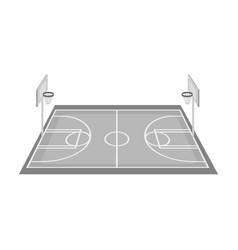basketball courtbasketball single icon in vector image