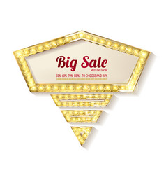 big sale retro light frame vector image