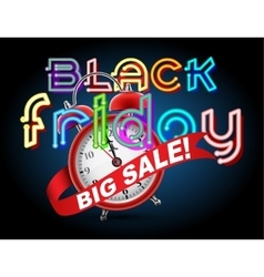 Black Friday Sale alarm clock vector