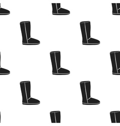 Boots icon in black style isolated on white vector
