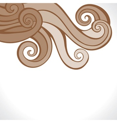 brown swirl design background vector image